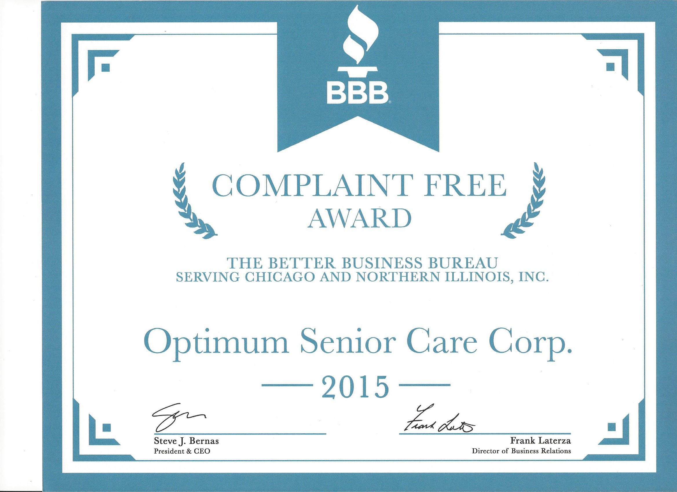 Certifications of optimum senior care department of public health idph it is insured and bonded member of the home care association of america hcaoa national private duty association xflitez Images